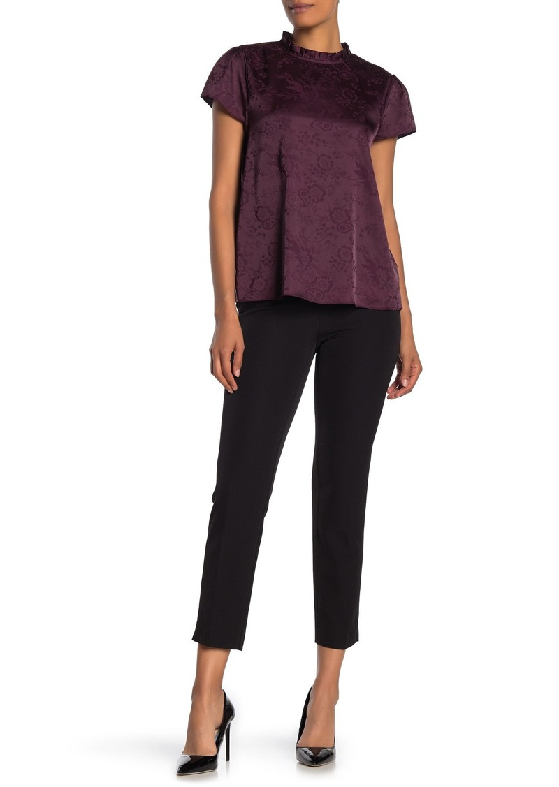 Laundry by Shelli Segal Metallic Trim Solid Crop Trousers
