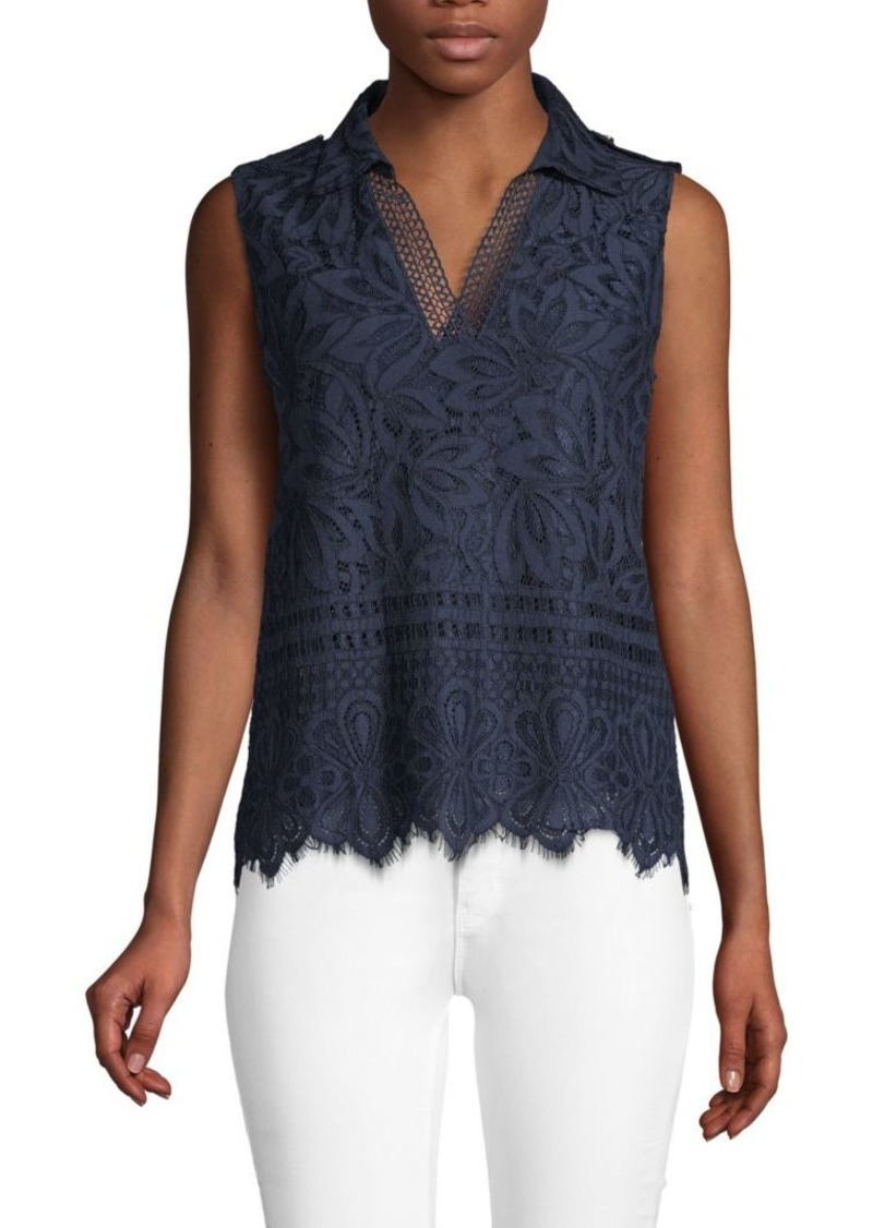 Laundry by Shelli Segal Midnight Lace Blouse