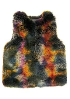 Laundry by Shelli Segal Mottled Faux-Fur Vest