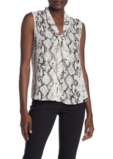 Laundry by Shelli Segal Neck Tie Sleeveless Blouse