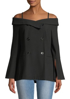 Laundry by Shelli Segal Off-The-Shoulder Blazer-Jacket