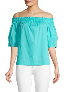 Laundry by Shelli Segal Off-The-Shoulder Cotton Blend Top
