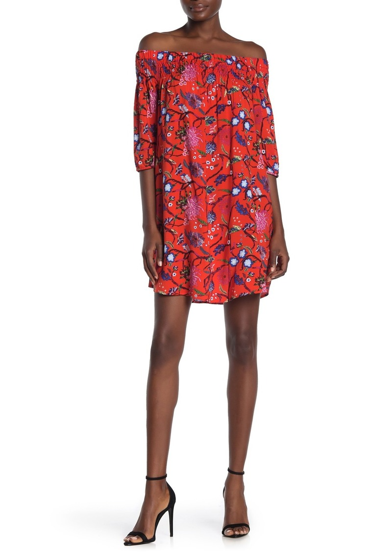 Laundry by Shelli Segal Floral Off-The-Shoulder Print Dress