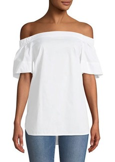 Laundry by Shelli Segal Off-The-Shoulder Flutter-Sleeve Tunic