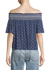 Laundry by Shelli Segal Off-The-Shoulder Short-Sleeve Blouse