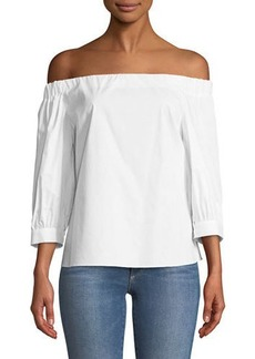 Laundry by Shelli Segal Off-The-Shoulder Three-Quarter Sleeve Blouse
