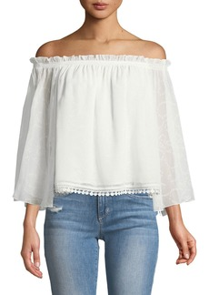 Laundry by Shelli Segal Off-The-Shoulder Tulip-Sleeve Blouse
