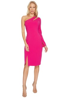 Laundry by Shelli Segal One Sleeve Fitted Crepe Dress with Cut Outs