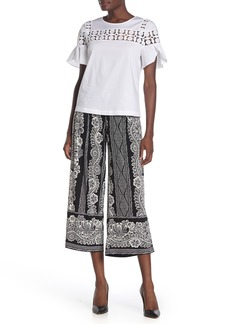 Laundry by Shelli Segal Paisley Pleated Gaucho Pants