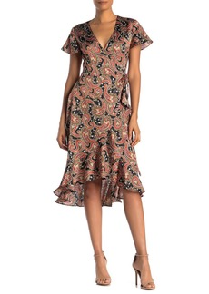 Laundry by Shelli Segal Paisley Wrap Dress (Regular & Plus Size)