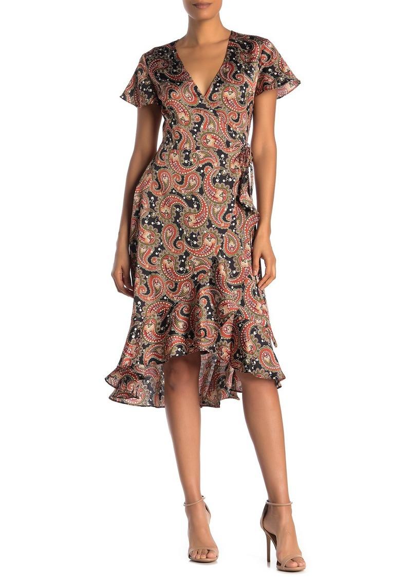 Laundry by Shelli Segal Paisley Wrap Dress (Regular & Plus Size)