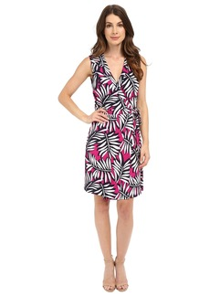 Laundry by Shelli Segal Palm Reader Sleeveless Wrap Dress