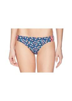 Laundry by Shelli Segal Patchwork Floral Tab Side Bikini Bottom