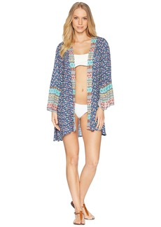 Laundry by Shelli Segal Patchwork Kimono Cover-Up