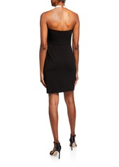 Laundry by Shelli Segal Pearly-Neck Halter Dress