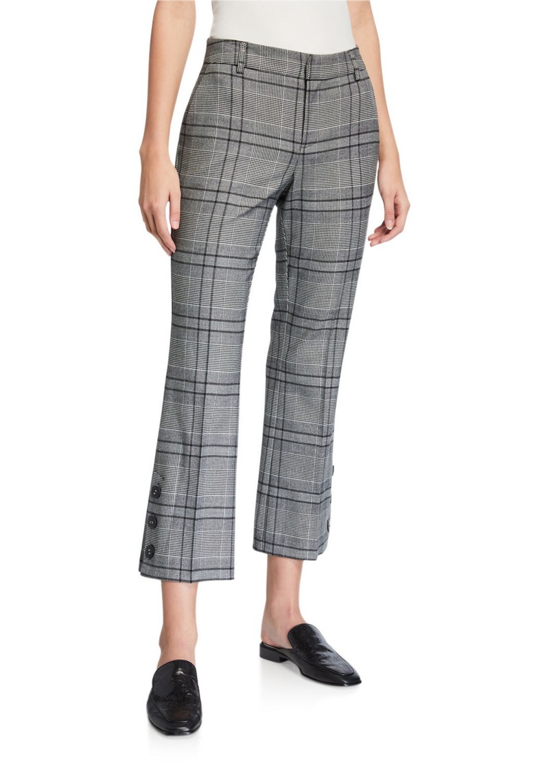 Laundry by Shelli Segal Plaid Ankle Button Cuff Trousers