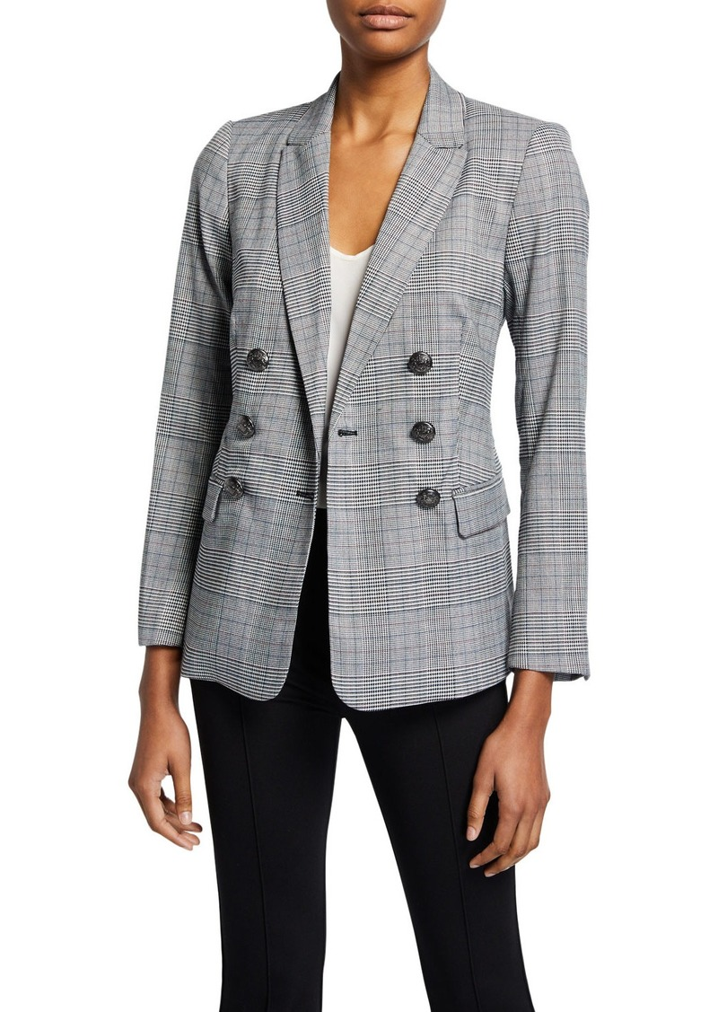 Laundry by Shelli Segal Plaid Double-Breasted Blazer