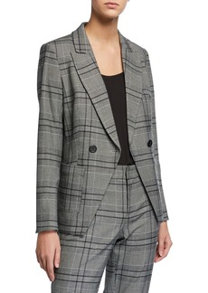 Laundry by Shelli Segal Plaid Double Breasted Blazer