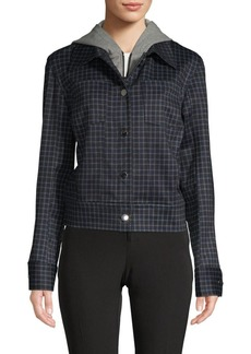 Laundry by Shelli Segal Plaid Hooded Jacket