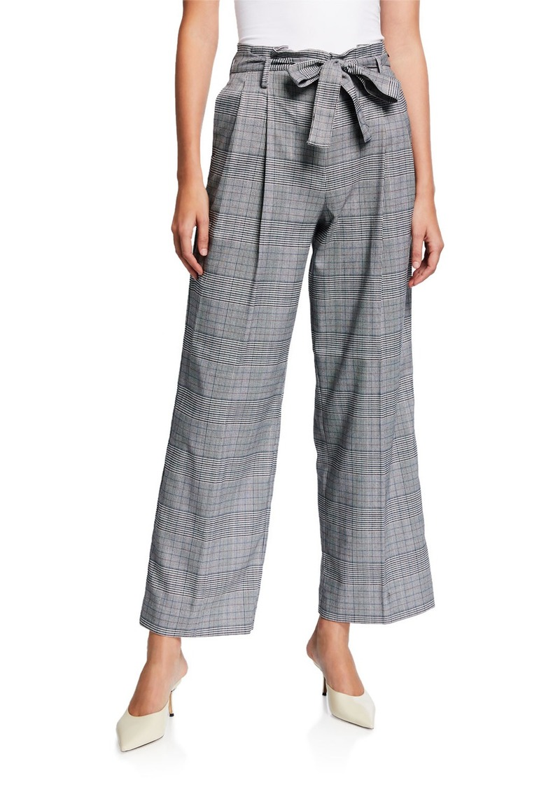 Laundry by Shelli Segal Plaid Paperbag Belted Pants
