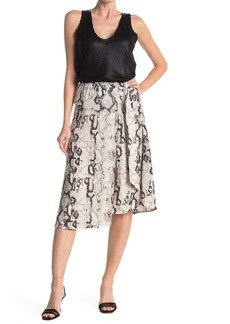 Laundry by Shelli Segal Printed D-Ring Pull-On Midi Skirt