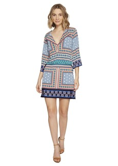 Laundry by Shelli Segal Printed Dress w/ Tied Waist