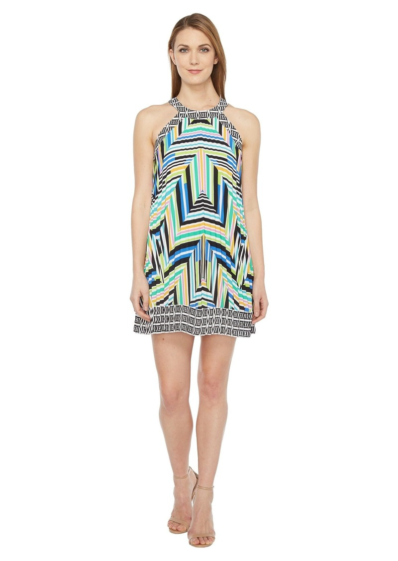 Laundry by Shelli Segal Printed Pleated Halter Dress