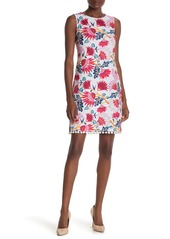 Laundry by Shelli Segal Floral Pompom Hem Dress