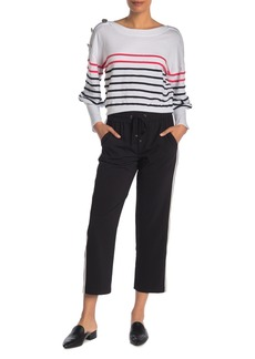 Laundry by Shelli Segal Pull-On Side Stripe Crop Track Pants