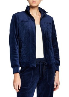 Laundry by Shelli Segal Quilted Velour Jacket