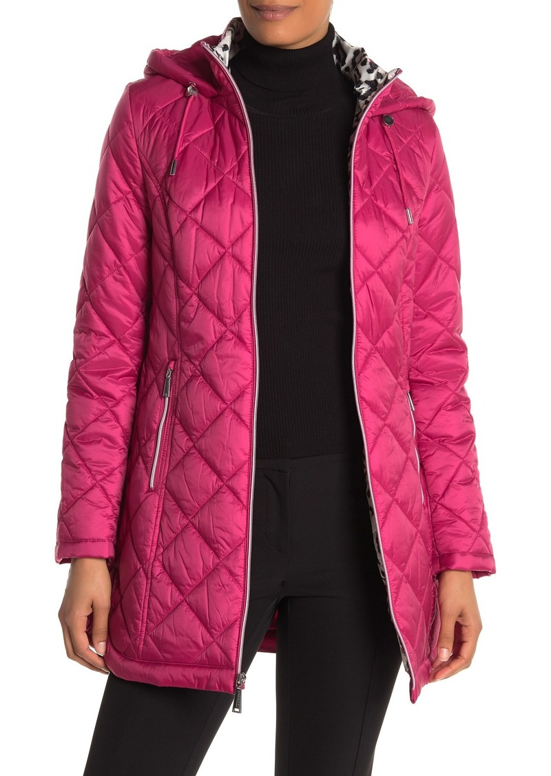 Laundry by Shelli Segal Quilted Zip Parka