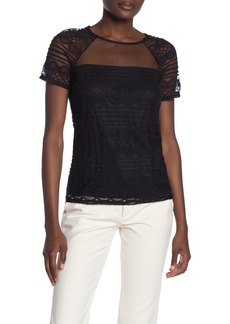 Laundry by Shelli Segal Raglan Lace Yoke Top