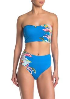 Laundry by Shelli Segal Rainflorist High Waist Bikini Bottoms