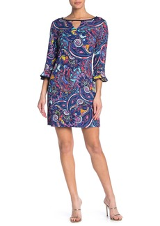 Laundry by Shelli Segal Reversible Front Cutout Dress