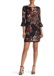 Laundry by Shelli Segal Reversible Front Cutout Mini Dress