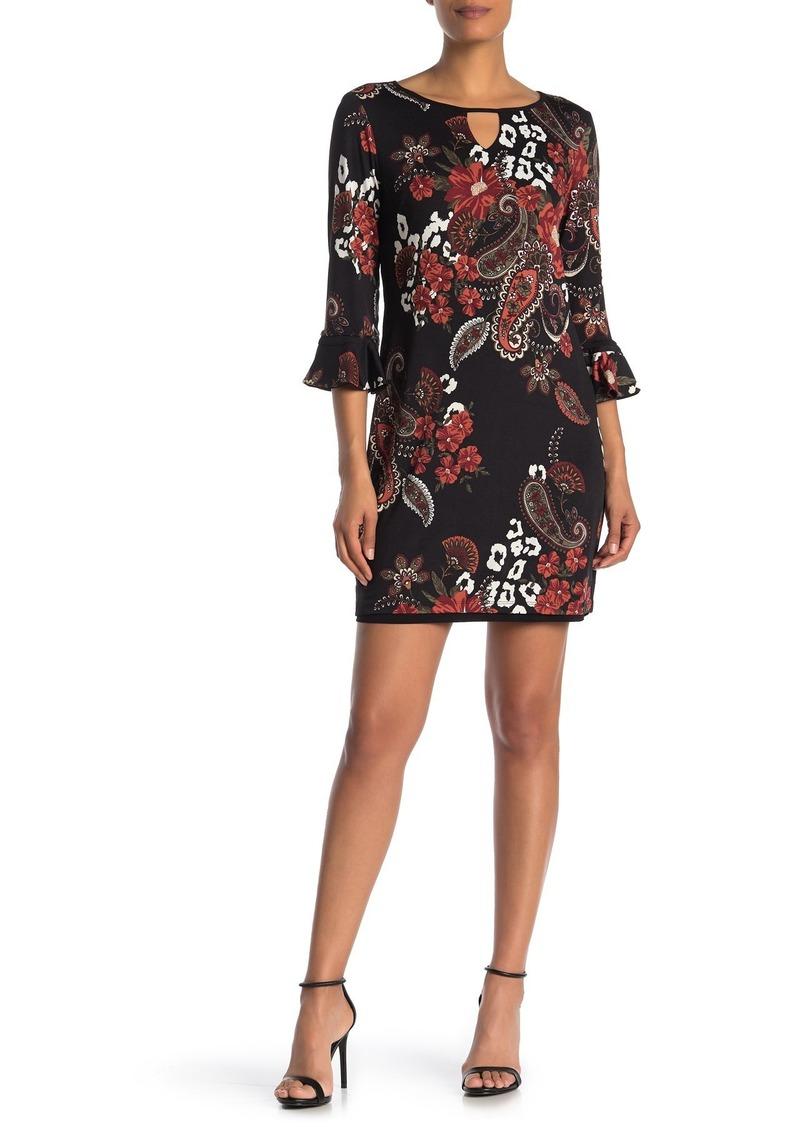 Laundry by Shelli Segal Reversible Front Cutout Mini Dress