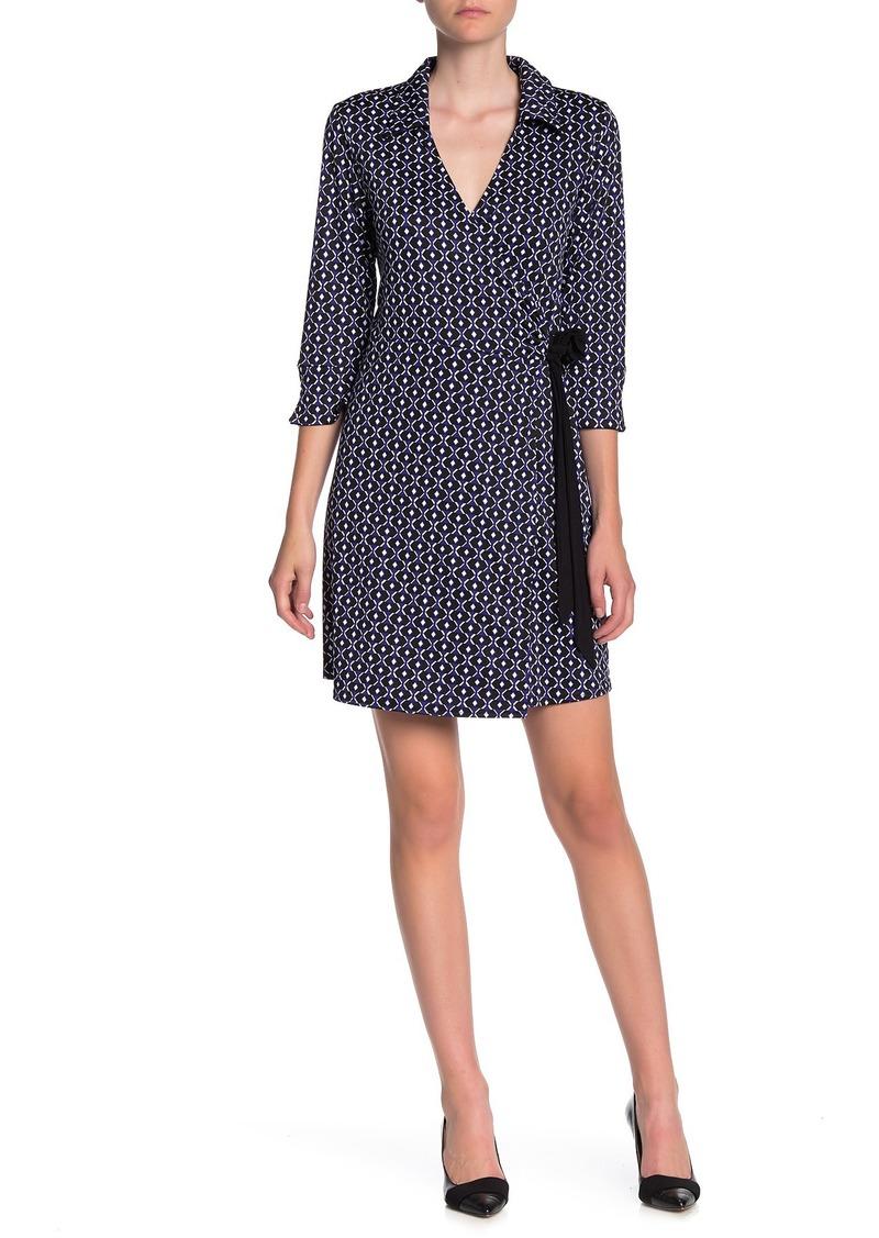 Laundry by Shelli Segal Reversible Jersey Matte Wrap Dress