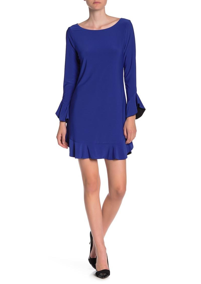 Laundry by Shelli Segal Reversible Matte Jersey Dress