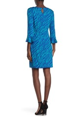 Laundry by Shelli Segal Reversible Quarter Sleeve Dress