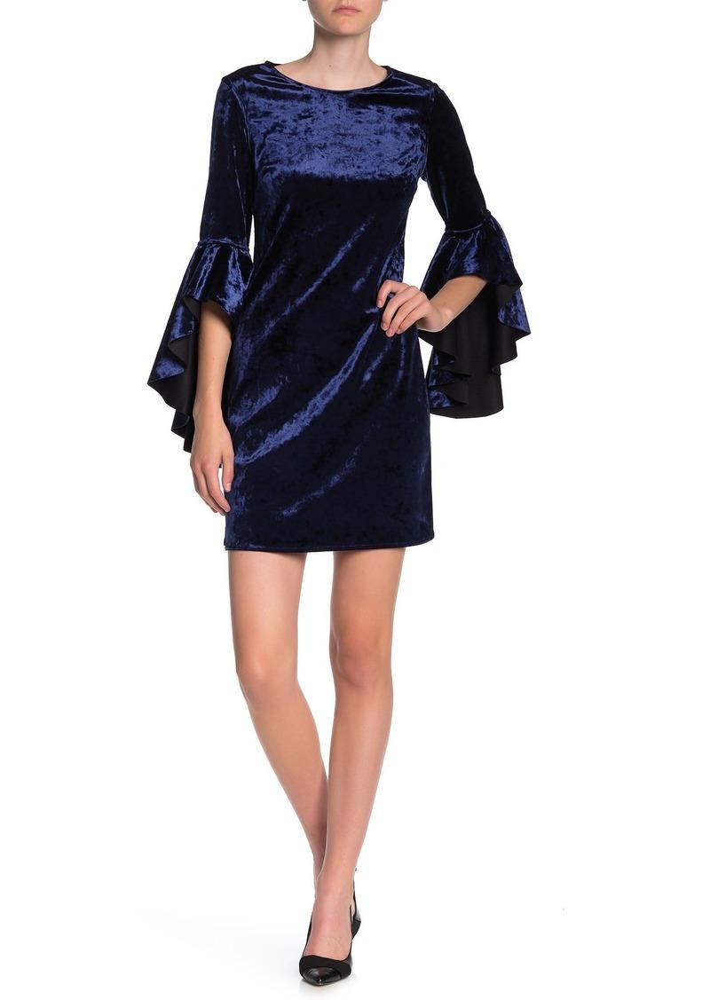 Laundry by Shelli Segal Reversible Velvet Dress