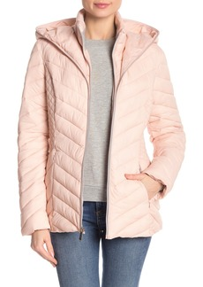 Laundry by Shelli Segal Hooded Lightweight Puffer Jacket