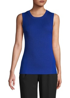 Laundry by Shelli Segal Ribbed Sleeveless Sweater