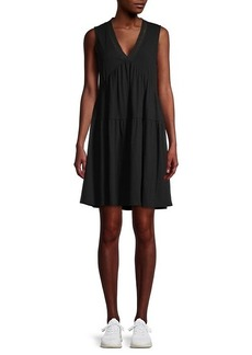 Laundry by Shelli Segal Ribbed Tiered Dress