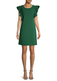Laundry by Shelli Segal Ruffle-Sleeve Cocktail Dress