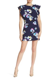 Laundry by Shelli Segal Ruffle Sleeve Floral Mini Dress