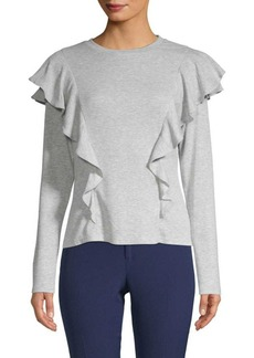 Laundry by Shelli Segal Ruffled Heathered Top
