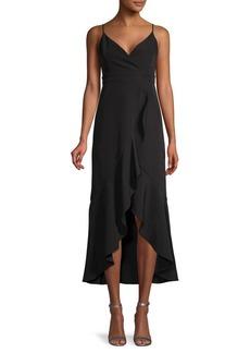 Laundry by Shelli Segal Ruffled Hem Midi Dress