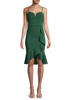 Laundry by Shelli Segal Ruffled Tulip-Hem Dress