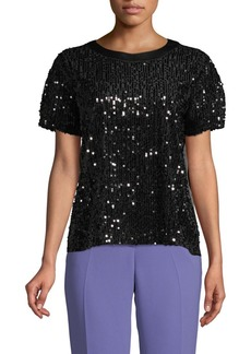 Laundry by Shelli Segal Sequin Embellished Top