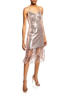 Laundry by Shelli Segal Sequin Fringe Dress